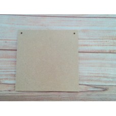 4mm thick MDF Square Plaque 125mm in size Pack of 10